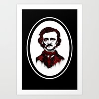 poe Art Prints featuring Poe by Brit Austin Illustration