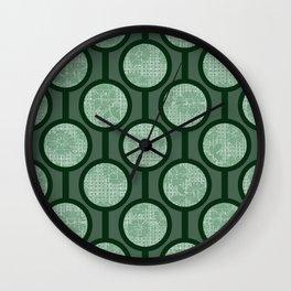 Retro-Delight - Simple Circles (Laced) - Sage Wall Clock