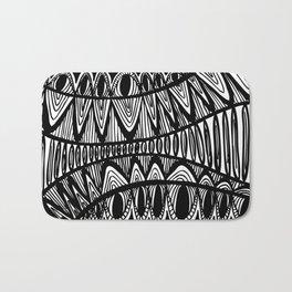Original Creative black and white pattern illustration Bath Mat