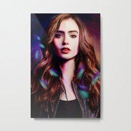 Lily Collins Metal Print