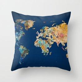 World Map 11 Throw Pillow
