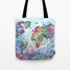 world map colors splats 2 Tote Bag