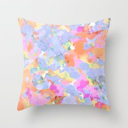 Floral abstract Throw Pillow