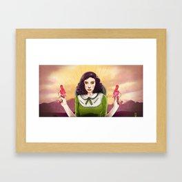 The Good, The Bad, & The Squirter Framed Art Print