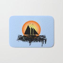 Grunge sailing Bath Mat