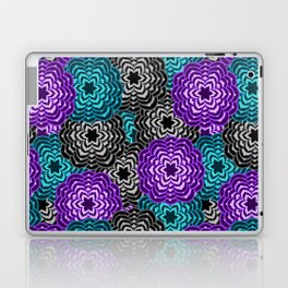 Dahlia Multicolored Floral Abstract Pattern Laptop & iPad Skin