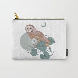 Pink Barn Owl Carry-All Pouch