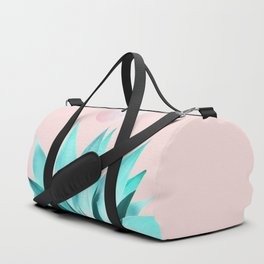 Stellar Agave and Full Moon - pastel aqua and pink Duffle Bag