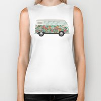 van Biker Tanks featuring Hippie van by eARTh