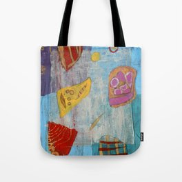 Colours and Shapes (Abstract) Tote Bag