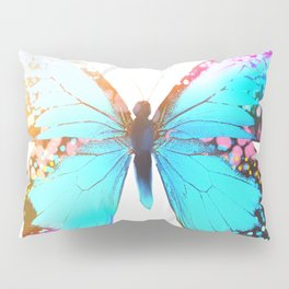 Turquoise Butterfly Pillow Sham