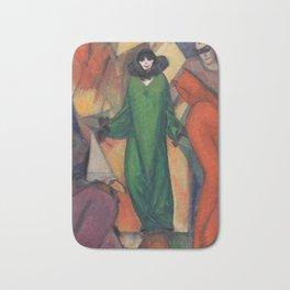 The Green Domino by Albert Bloch Bath Mat