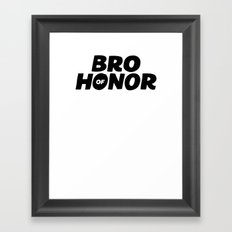 Bro of Honor Framed Art Print