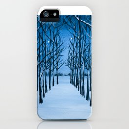 Snow Tree Cathedral iPhone Case