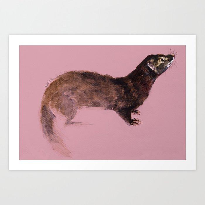 Totem European Mink (FIEB) Art Print