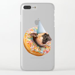 Dog Party Donut Clear iPhone Case