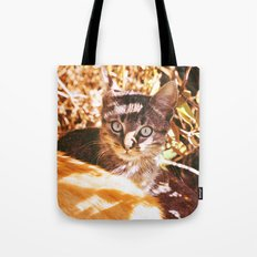 Cat in the shadows Tote Bag