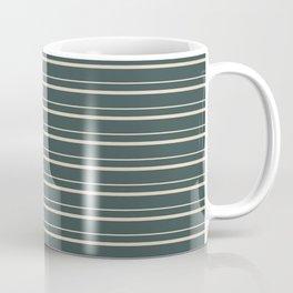 Alpaca Wool Cream PPG14-19 Horizontal Stripes Pattern 3 on Night Watch PPG1145-7 Coffee Mug