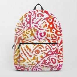 Heart Flower Orange Backpack