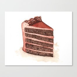Chocolate Layer Cake Slice Canvas Print