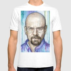 Walter White Portrait White Mens Fitted Tee MEDIUM
