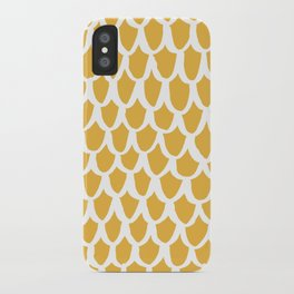 yellow scallop iPhone Case
