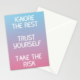 Inspirational - Trust Yourself Stationery Cards