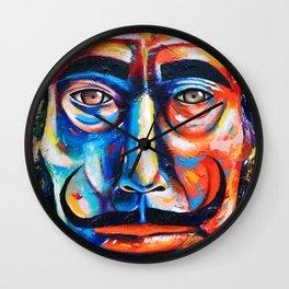 Salvador Dalí Colorful Art Painting Wall Clock