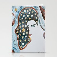 american beauty Stationery Cards featuring American Beauty by Mona Mansour Jandali