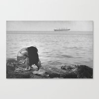 alone Canvas Prints featuring Alone  by PhotoStories