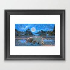 Just Chilling and Dreaming (Polar Bear) Framed Art Print