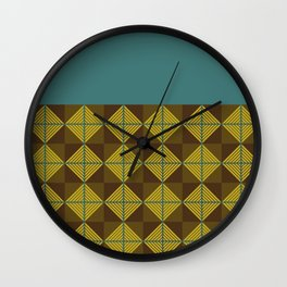 spider squares_ blue Wall Clock