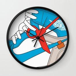 Jordan 1  Of White Poster Wall Clock