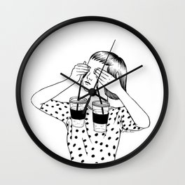 Two Cups Of Tears Wall Clock
