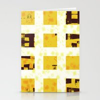 yellow pattern Stationery Cards featuring Yellow by SensualPatterns