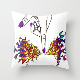 Pointed Graphic Celebration Throw Pillow