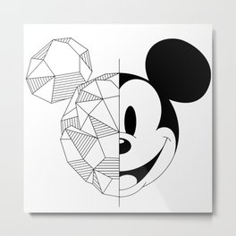 Geometric Mouse Metal Print