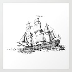 sailing ship Art Print