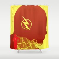 flash Shower Curtains featuring Flash by Frank DeAngelo