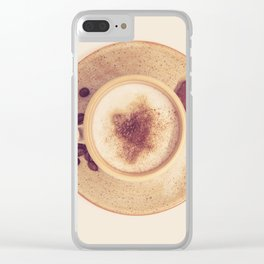 Vintage Coffee Love Photography Clear iPhone Case