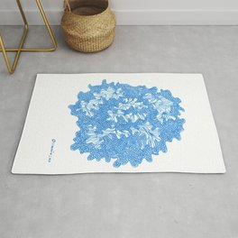 March's Blue 4 | Artline Drawing Pens Sketch Rug