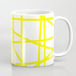 Doodle (Yellow & White) Coffee Mug