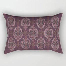 Vintage Burgundy vertical Rectangular Pillow