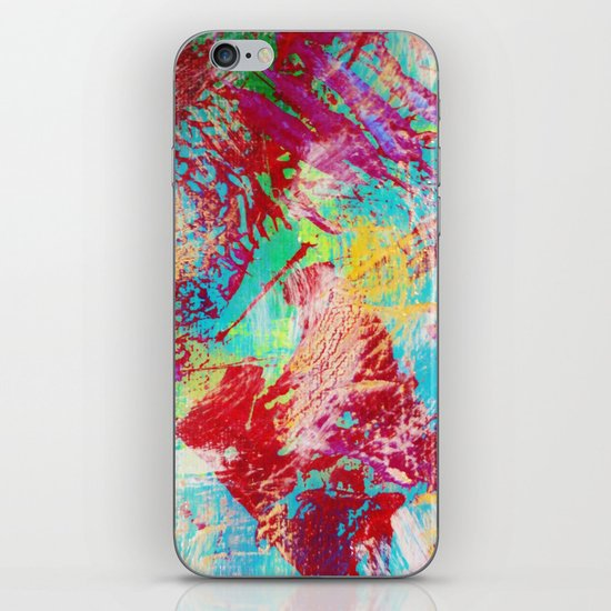 REEF STORM - Fun Bright BOLD Playful Rainbow Colors Underwater Ocean Reef Theme Coral Aquatic Life iPhone & iPod Skin