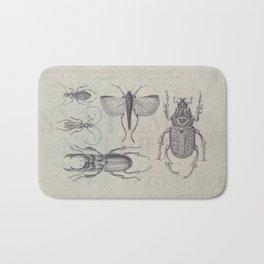 Vintage Beetles And Bugs Bath Mat