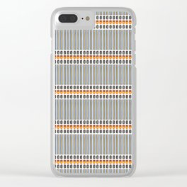 Geometric Stripes Seamless Vector Pattern Art Deco Clear iPhone Case
