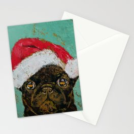 Santa Pug Stationery Cards