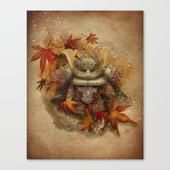 Late Autumn Samurai Canvas Print