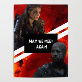 May we Meet Again Octavia + Lincoln Poster