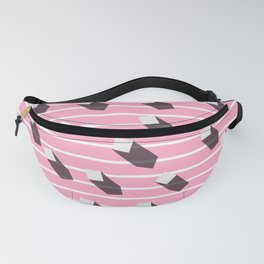 sugar cubes with long shadows Fanny Pack